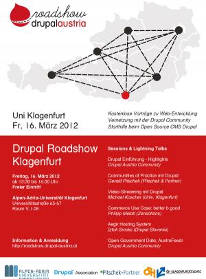Drupal Austria Roadshow Klagenfurt Flyer