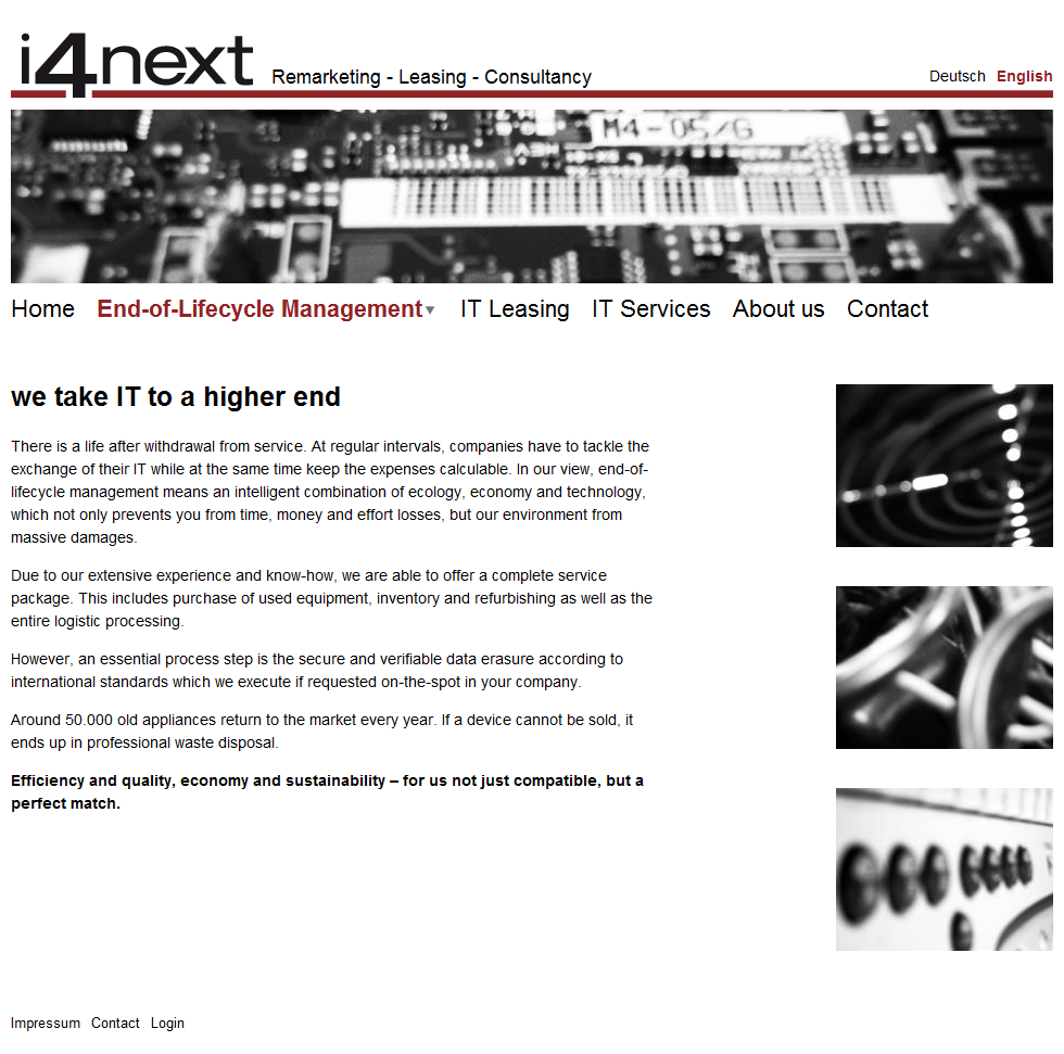 i4next Remarketing - Leasing - Consultancy